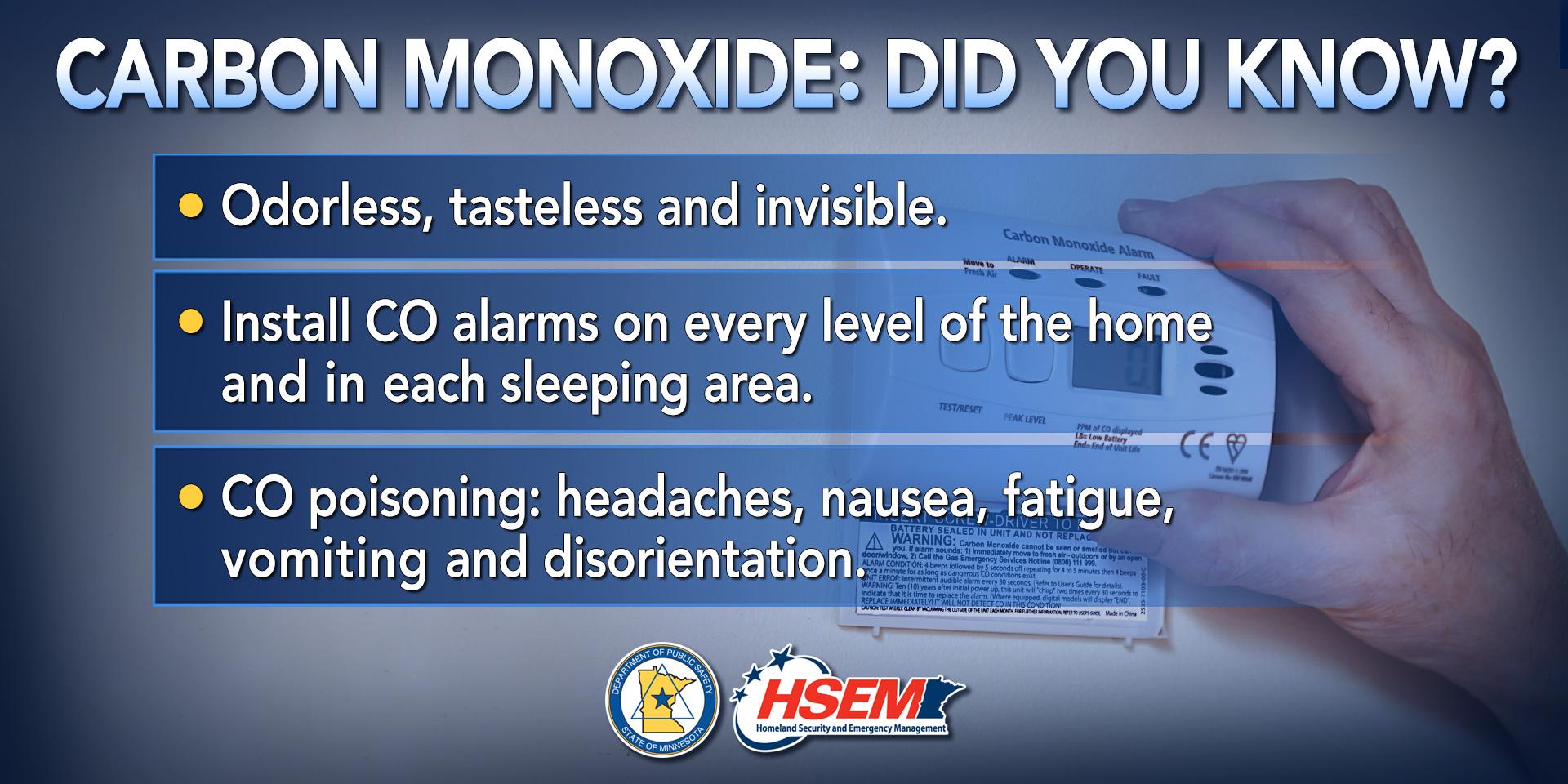 Information in Carbon Monoxide Alarms