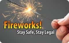 Fireworks safety message